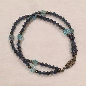 Double-Stranded Midnight Blue Bracelet